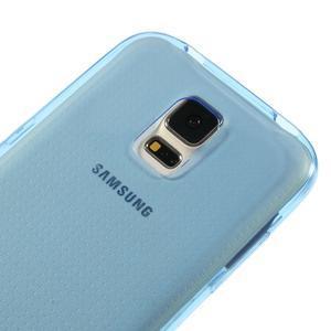 Gelové ultraslim pouzdro na Samsung Galaxy S5- modré - 3