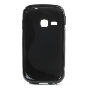 Gélové S-line puzdro na Samsung Galaxy Young S6310- čierné - 3