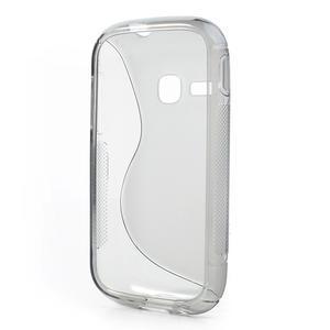 Gélové S-line puzdro na Samsung Galaxy Young S6310- šedé - 3