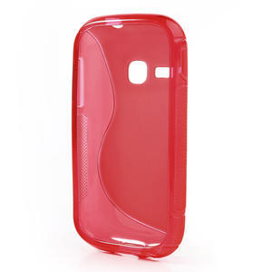 Gélové S-line puzdro na Samsung Galaxy Young S6310- červené - 3