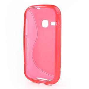 Gélové S-line puzdro pre Samsung Galaxy Young S6310- ružové - 3