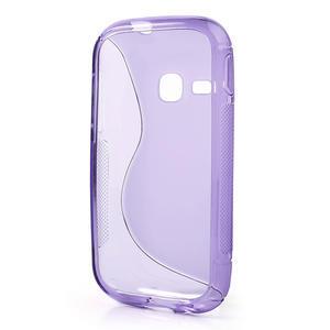 Gélové S-line puzdro pre Samsung Galaxy Young S6310- fialové - 3