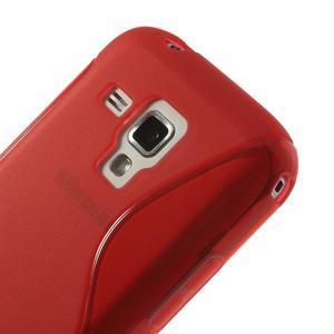 Gélové S-line puzdro pre Samsung Trend plus, S duos- červené - 3