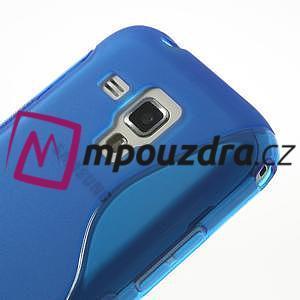 Gélové S-line puzdro pre Samsung Trend plus, S duos- modré - 3