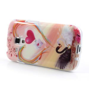 Gélové puzdro na Samsung Galaxy Trend, Duos- labutí srdce - 3