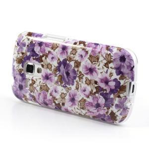 Gélové puzdro pre Samsung Galaxy Trend, Duos- fialové kvety - 3