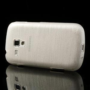 Kartáčované puzdro na Samsung Galaxy Trend, Duos- biele - 3