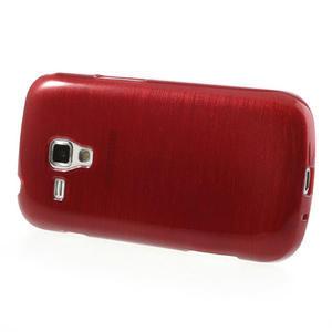 Kartáčované puzdro na Samsung Galaxy Trend, Duos- červené - 3