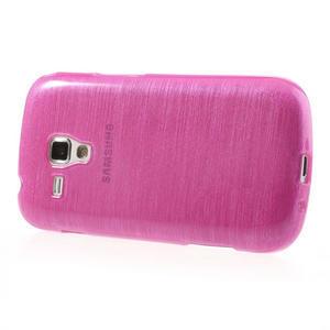 Kartáčované puzdro na Samsung Galaxy Trend, Duos- růžové - 3
