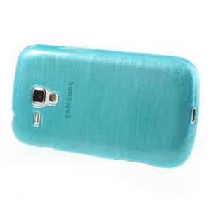 Kartáčované puzdro na Samsung Galaxy Trend, Duos- modré - 3
