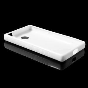 Gélové S-line puzdro na Nokia X dual- biele - 3