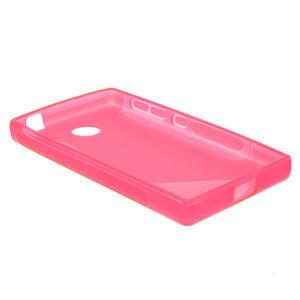 Gélové S-line puzdro na Nokia X dual- ružové - 3