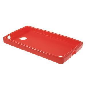 Gélové matné puzdro na Nokia X dual- červené - 3