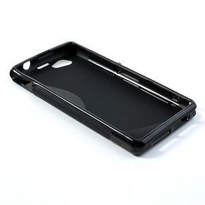 Gélové S-line puzdro na Sony Xperia Z1 Compact D5503- čierné - 3