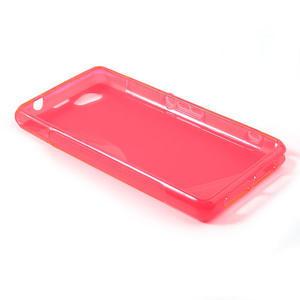 Gélové S-line puzdro pre Sony Xperia Z1 Compact D5503- ružové - 3