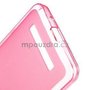 Gélové matné puzdro pre Asus Zenfone 5 - ružové - 3