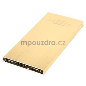 Luxusná kovová externá nabíjačka power bank 12 000 mAh - zlatá - 3