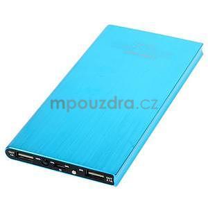 Luxusná kovová externá nabíjačka power bank 12 000 mAh - modrá - 3