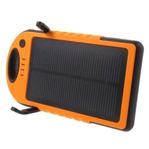 Outdoor GX vysokokapacitní externí solární nabíjačka 12 000 mAh - oranžová - 3