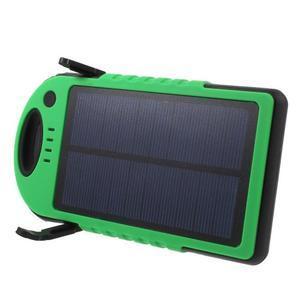 Outdoor GX vysokokapacitní externí solární nabíjačka 12 000 mAh - zelená/čierná - 3
