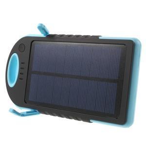 Outdoor GX vysokokapacitní externí solární nabíjačka 12 000 mAh - modrá - 3