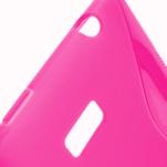 Gélové S-line puzdro pre HTC Desire 600- růžové - 3/6