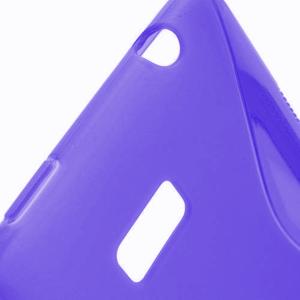Gélové S-line puzdro pre HTC Desire 600- fialové - 3