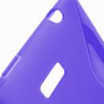Gélové S-line puzdro pre HTC Desire 600- fialové - 3/6
