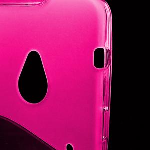 Gélové S-line puzdro pre HTC one M7- ružové - 3