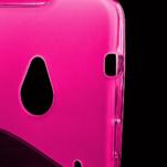 Gélové S-line puzdro pre HTC one M7- ružové - 3/6