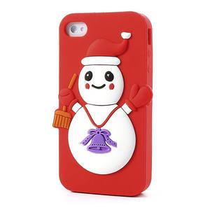 Silikonové puzdro na iPhone 4 4S - sněhulák - 3