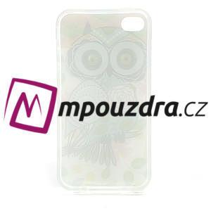 Gélové puzdro na iPhone 4 4S - sova - 3
