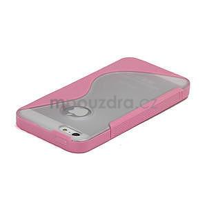 S-line hybrid puzdro pre iPhone 5, 5s- svetleružové - 3