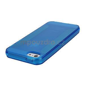 Gélové puzdro pre iPhone 5, 5s- modré - 3