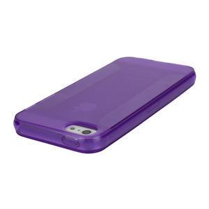 Gélové puzdro pre iPhone 5, 5s- fialové - 3
