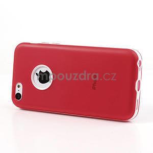 Gélové rámové puzdro pre iPhone 5C- červené - 3