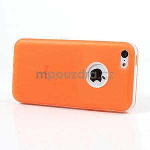Gélové rámové puzdro pre iPhone 5C- oranžové - 3