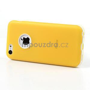Gélové rámové puzdro pre iPhone 5C- žlté - 3