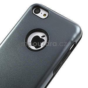 Gélové metalické puzdro pre iPhone 5C- šedé - 3