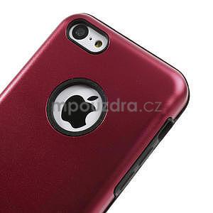 Gélové metalické puzdro pre iPhone 5C- červené - 3
