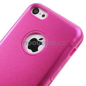 Gélové metalické puzdro pre iPhone 5C- růžové - 3