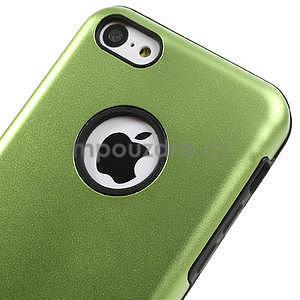 Gélové metalické puzdro pre iPhone 5C- zelené - 3