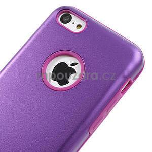 Gélové metalické puzdro pre iPhone 5C- fialové - 3