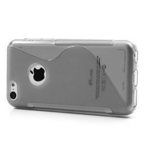 Gélové S-line puzdro pre iPhone 5C- šedé - 3