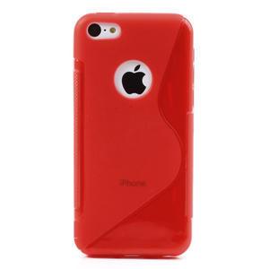 Gélové S-line puzdro pre iPhone 5C- červené - 3