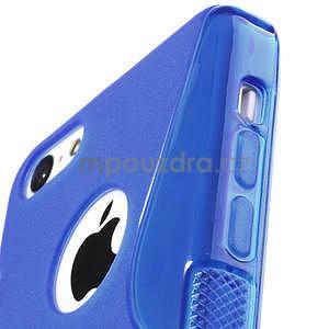 Gélové S-line puzdro pre iPhone 5C- modré - 3
