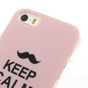 Gélové puzdro pre iPhone 5, 5s- láska a knír - 3