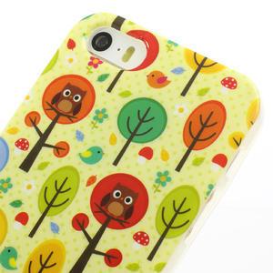Gélové puzdro pre iPhone 5, 5s- Sovy a stromy - 3