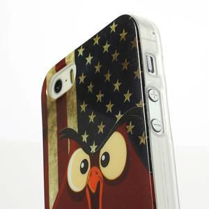 Gélové puzdro pre iPhone 5, 5s- kurací americká vlajka - 3