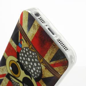 Gélové puzdro pre iPhone 5, 5s- Jack vlajka - 3